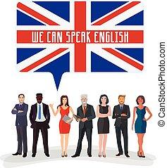 étude, langue, anglaise