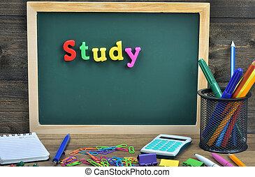 étude, mot