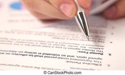 étude, rents, contrat