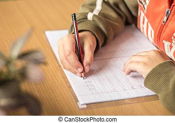 étudiant, écriture