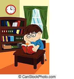 étudiant, bibliothèque
