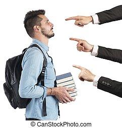 étudiant, blâmé, unfairly