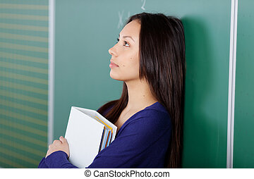 étudiant féminin, pensées