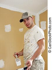 étudiant, peintre