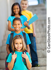 étudiants, école, primaire