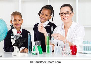 étudiants, école, primaire, prof
