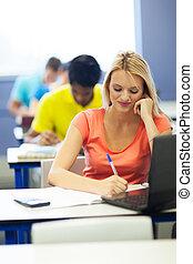 étudiants, étudier, université, groupe