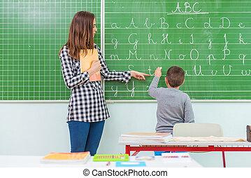 étudiants, classroom:, prof, enseignement
