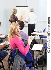 étudiants, conférence