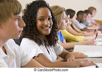 étudiants, conférence, université, collège