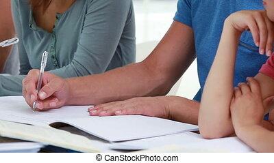 étudiants, conversation, quoique, fonctionnement, sourire, ensemble