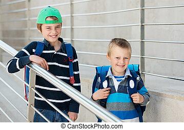 étudiants, deux