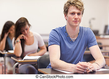 étudiants, jeune, tâche