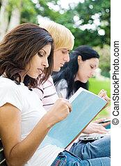 étudiants, lecture