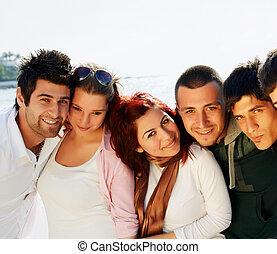 étudiants, mer, turc