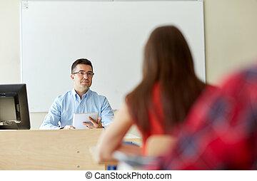 étudiants, pc, eduquer enseignant, tablette
