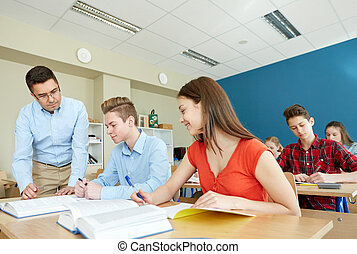 étudiants, portion, école, tâche, prof