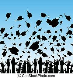 étudiants, recevoir diplôme