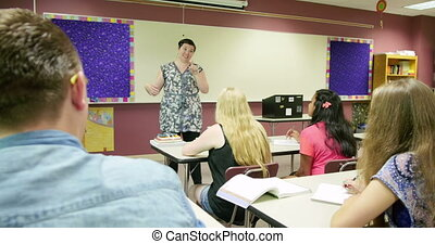 étudiants, teac, prof, conférence
