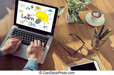 étudier, concept, education, apprentissage, apprendre