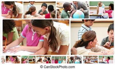 étudier, leur, école, élèves