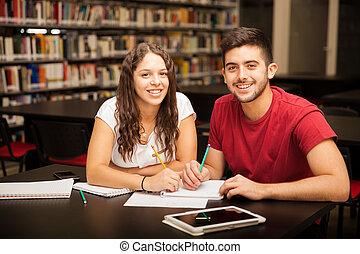 étudier, mon, petit ami