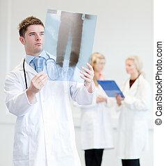 étudier, rayon x, docteur