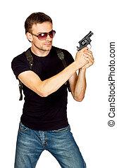 étui pistolet, homme