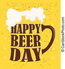 événement célébration, jour, pot, bière