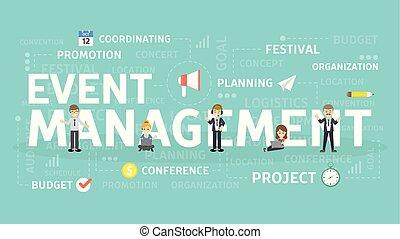 événement, concept., gestion