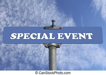 événement spécial, panneaux signalisations
