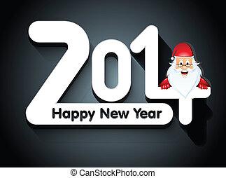 év, kártya, szent, vektor, új