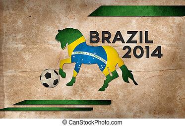 év, közül, labdarúgás, és, ló, brazília