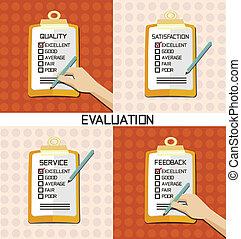 évaluation, chèque, approuver, qualité