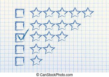 évaluation, et, réaction, sur, service clientèle, exécutions