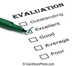 évaluation, feuille
