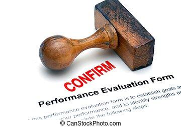 évaluation, formulaire, confirmer