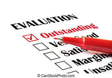 "évaluation, ""outstanding"""