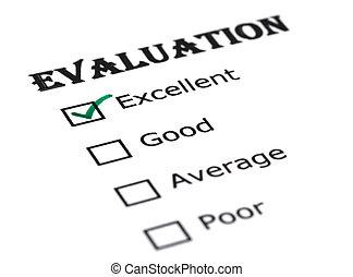 évaluation, papier
