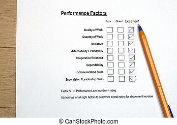 évaluation performances, enquête