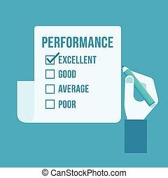 évaluation performances, formulaire
