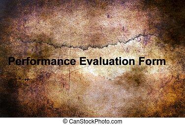 évaluation performances