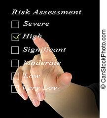 évaluation, risque, niveau
