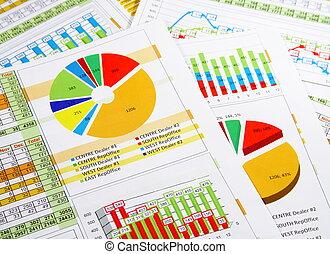 éves beszámoló, alatt, ábra, és, táblázatok