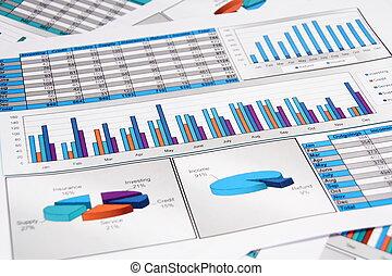 éves beszámoló, közül, outgoings, és, jövedelem