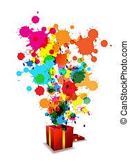 évforduló, elvont, művészi, ünneplés