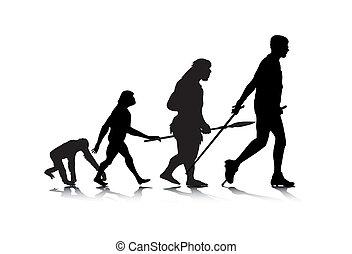 évolution, 2, humain