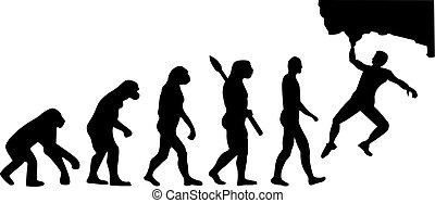 évolution, bouldering