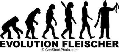 évolution, charcutier