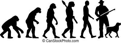 évolution, chien, chasse
